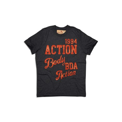 BODYACTION MENS SLIM FIT T-SHIRT ΑΝΘΡΑΚΙ