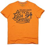 BODYACTION MEN SLIM FIT SS T-SHIRT ΠΟΡΤΟΚΑΛΙ