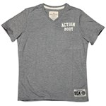BODYACTION MEN SLIM FIT SS T-SHIRT ΓΚΡΙ